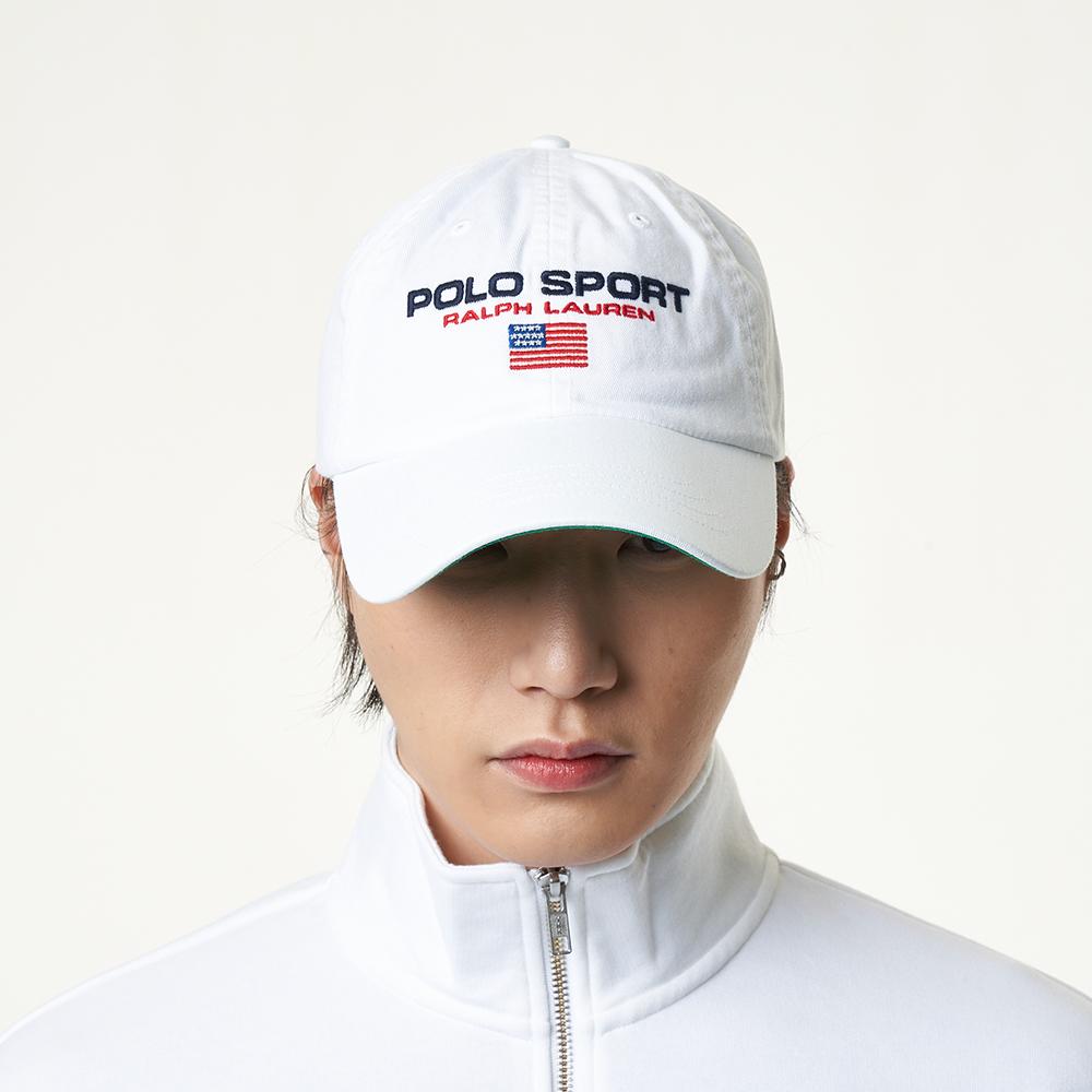 [공식]CLS SPRT CAP-HAT-COTTON CHINO  PURE WHITE W/ POLO SPORT_MAPOHGS0J420125