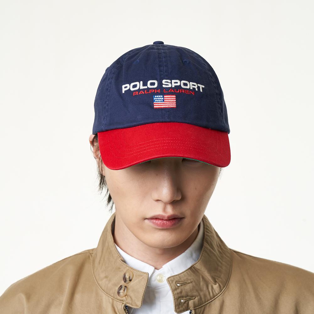 [공식]CLS SPRT CAP-HAT-COTTON CHINO  NWPRT NVY RL 2000 RED W/ POLO_MAPOHGS0J420221