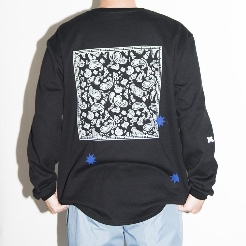 Polygon paisley LS Black&White MAA0005BW