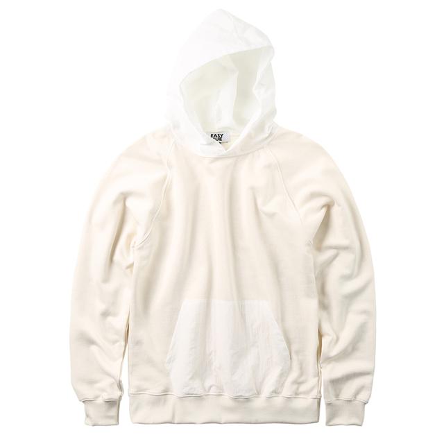 (방수후드)waterproof woven hood T-shirt (white)