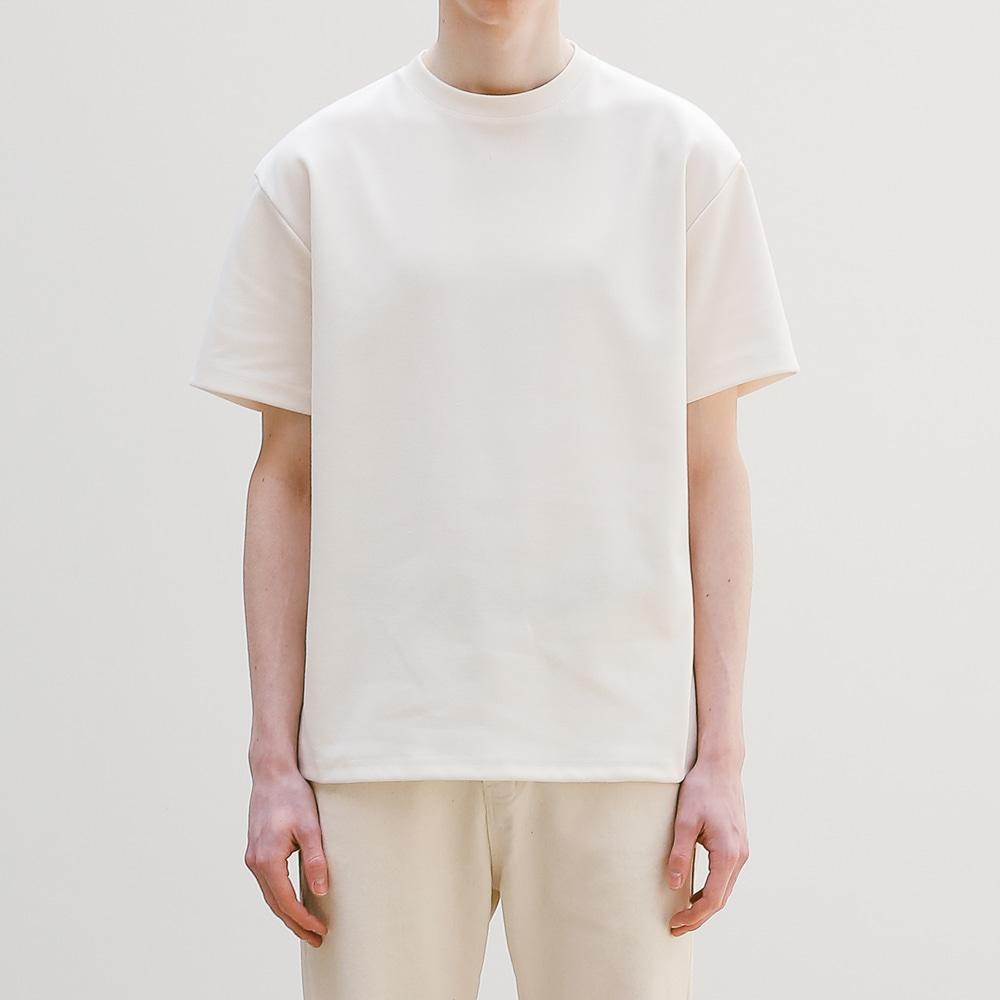 퓨어 헤비 반팔 티셔츠 크림