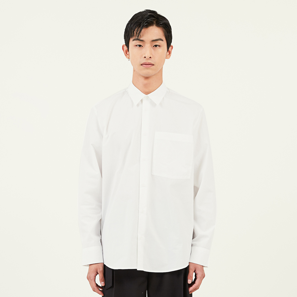 crinkled cotton shirts white