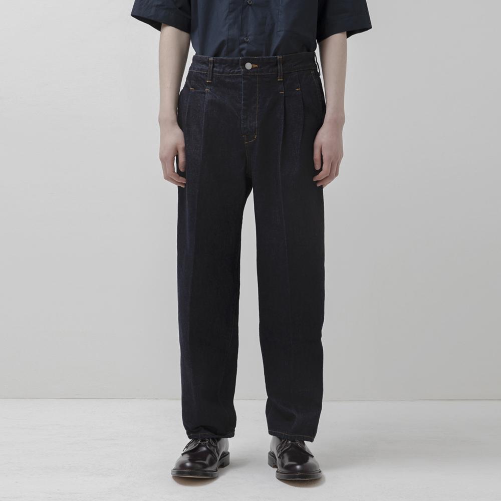 Pleated Jeans (Indigo)