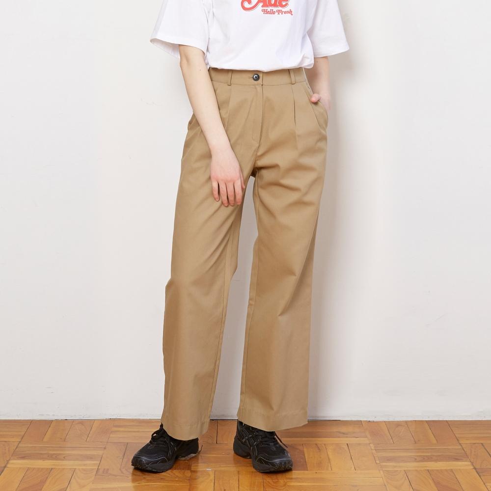 APL011_Cotton Wide Pants_Beige