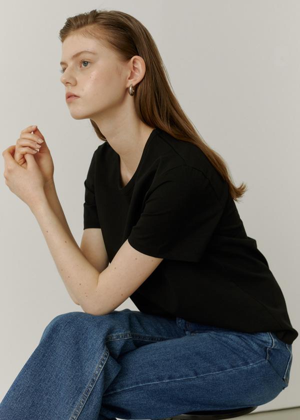 21SS Silket Basic T-Shirts / black