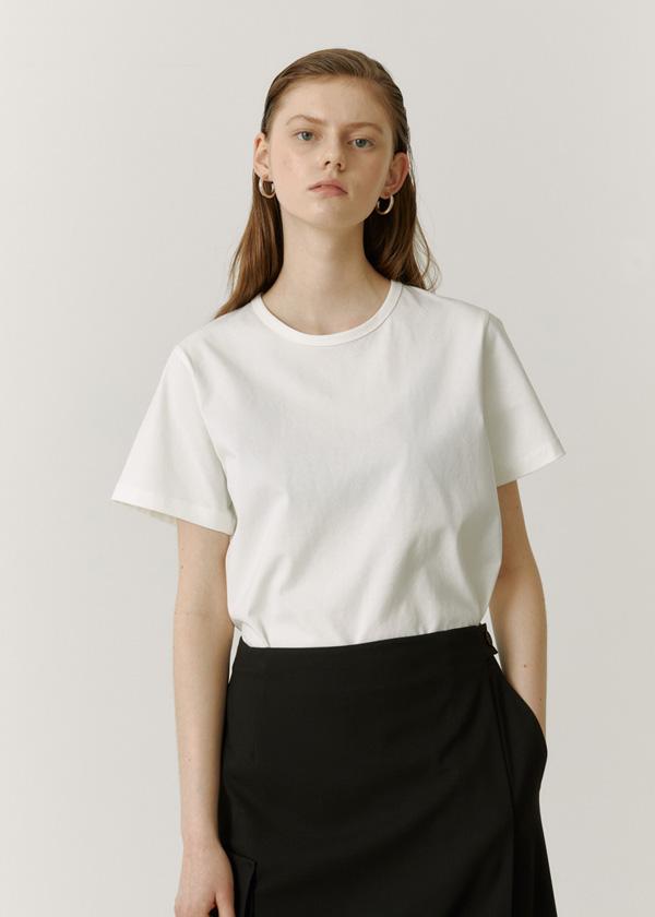 21SS Silket Basic T-Shirts / white