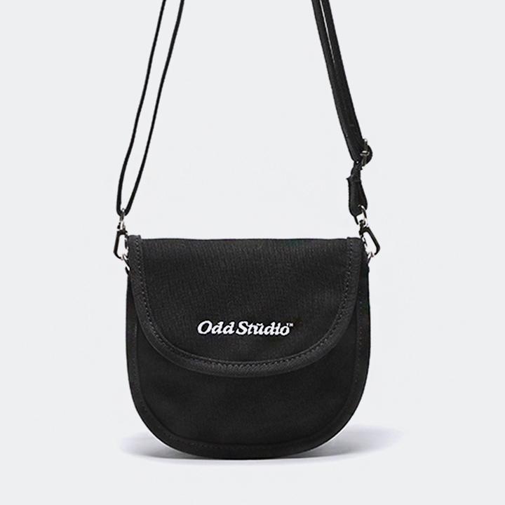 [스티커팩증정] 오드스튜디오 미니 라운드 크로스백 - BLACK