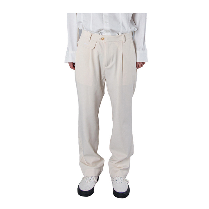 Flip cream semi-wide trouser