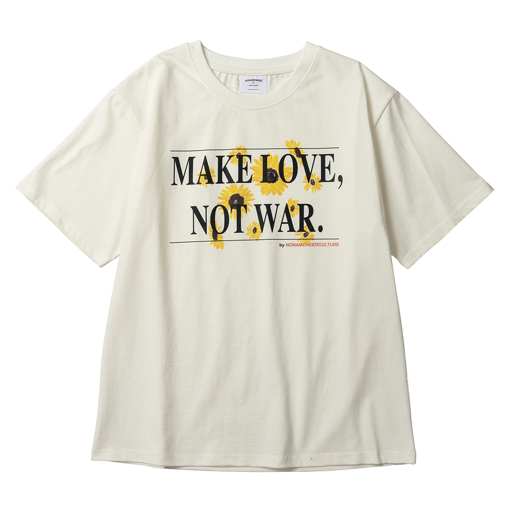 Off white make love, not war t shirts