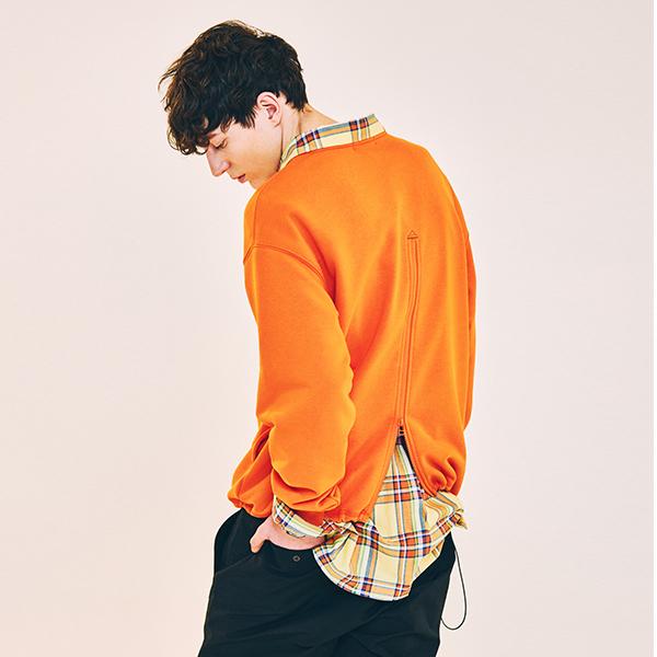 Crew Neck Sweat Shirt (Orange)