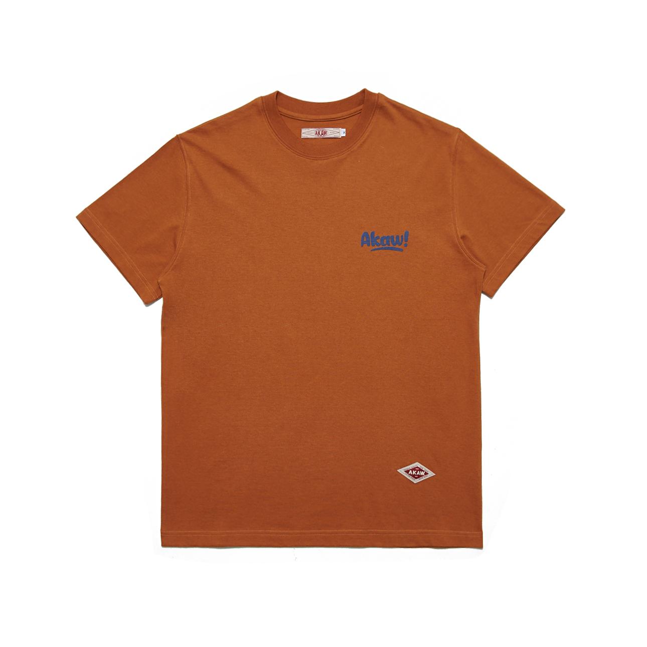 백 페인트 티셔츠(카멜)