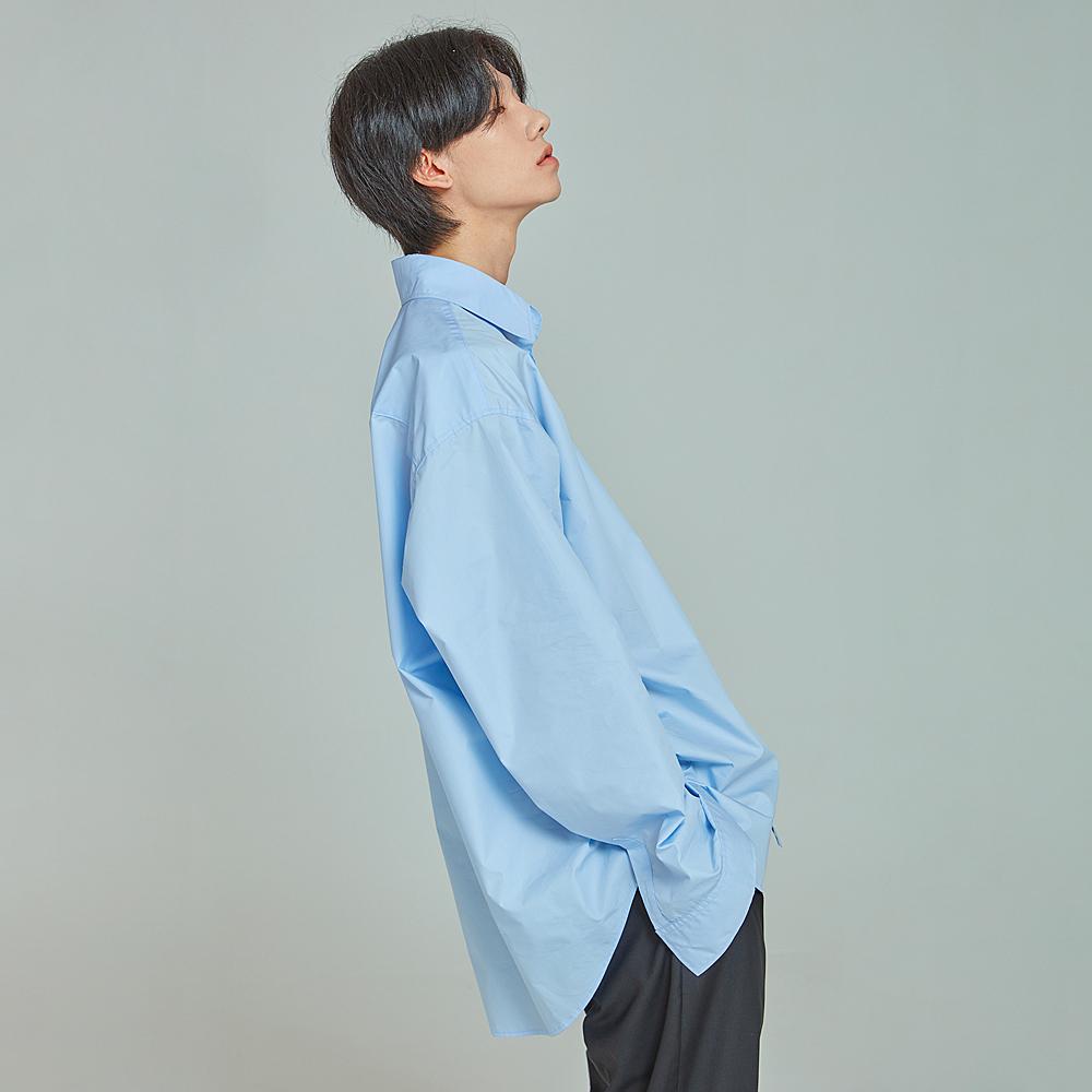 PAP 뉴스쿨 오버핏 셔츠 스카이 블루