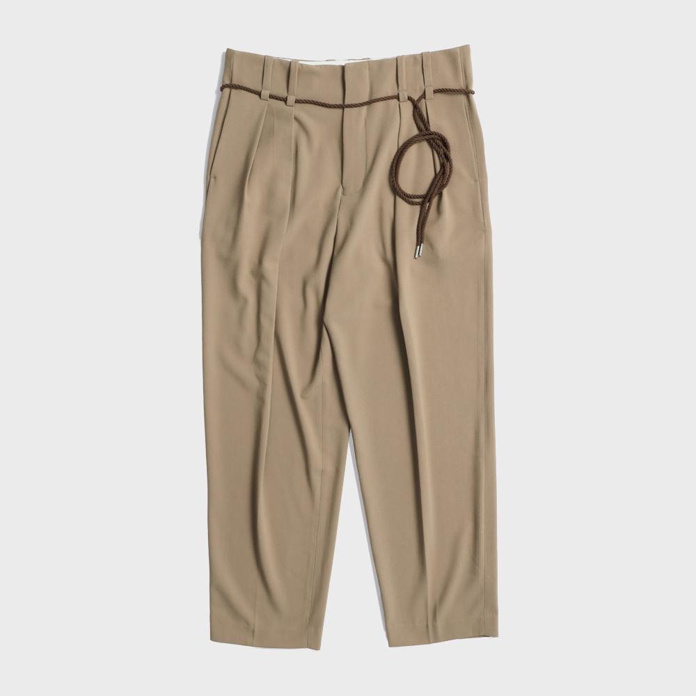 Rope two_tuck pants(Brown)