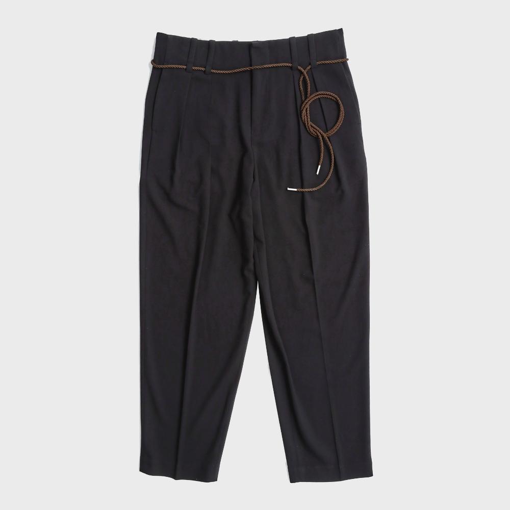 Rope two_tuck pants(Black)