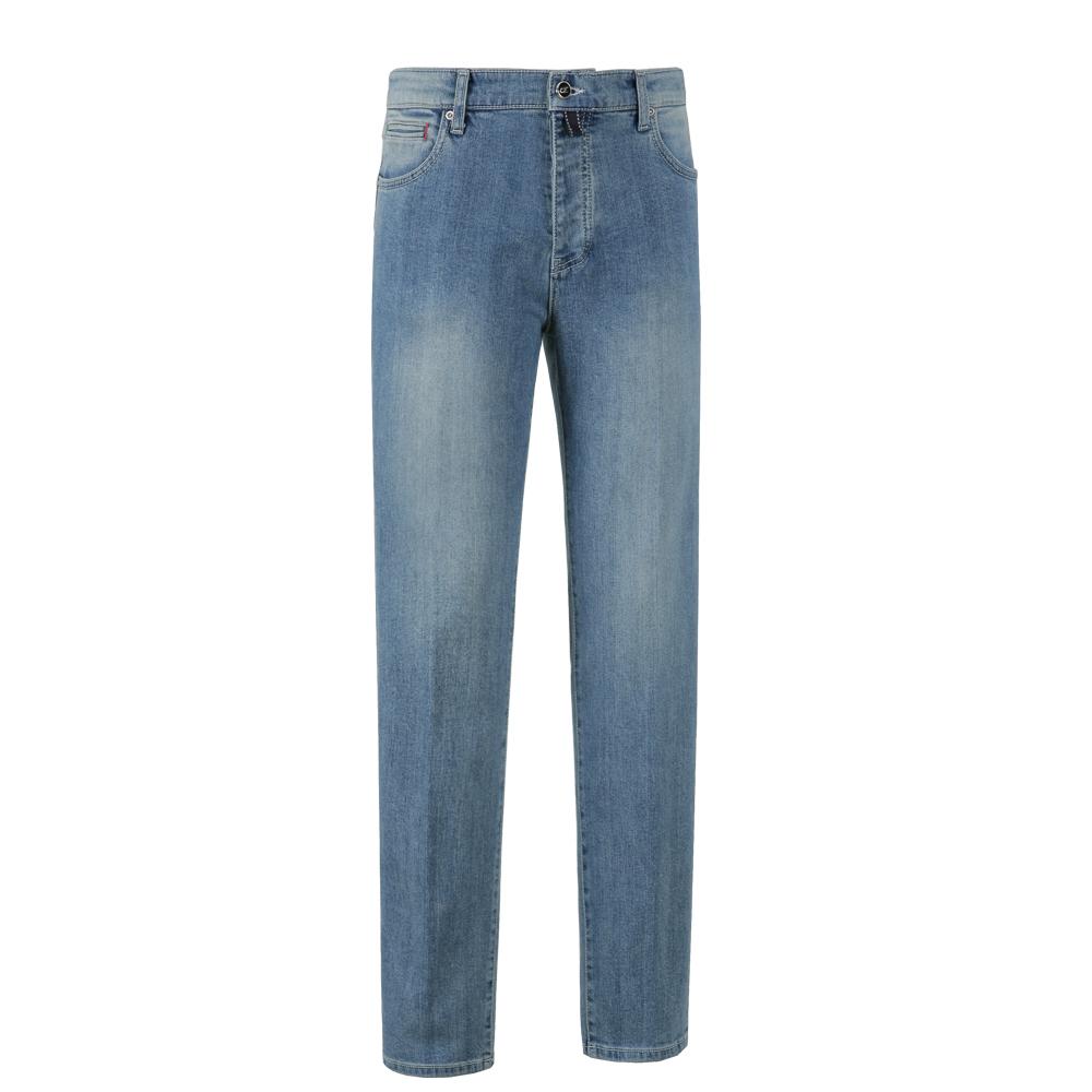 001 Tailored Denim Jeans (Sky blue)