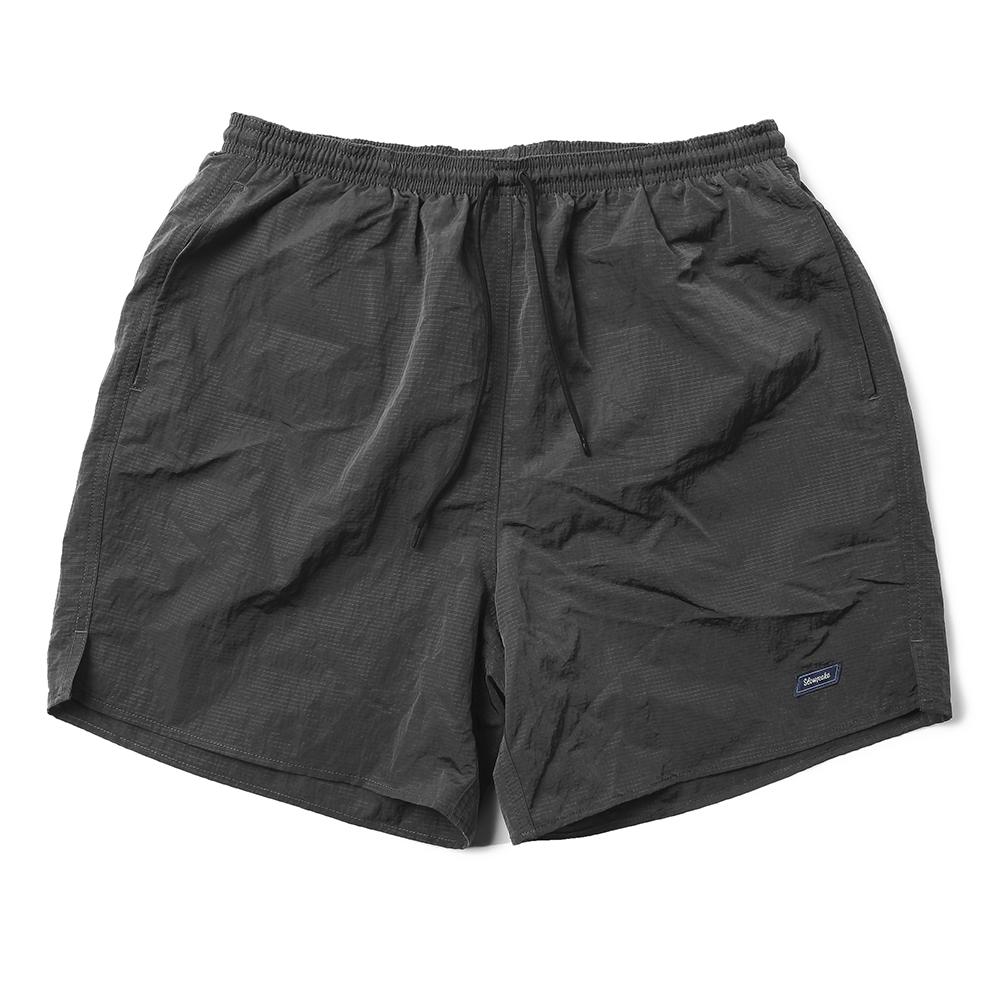 Metal Ripstop Swim Shorts -Charcoal Grey-