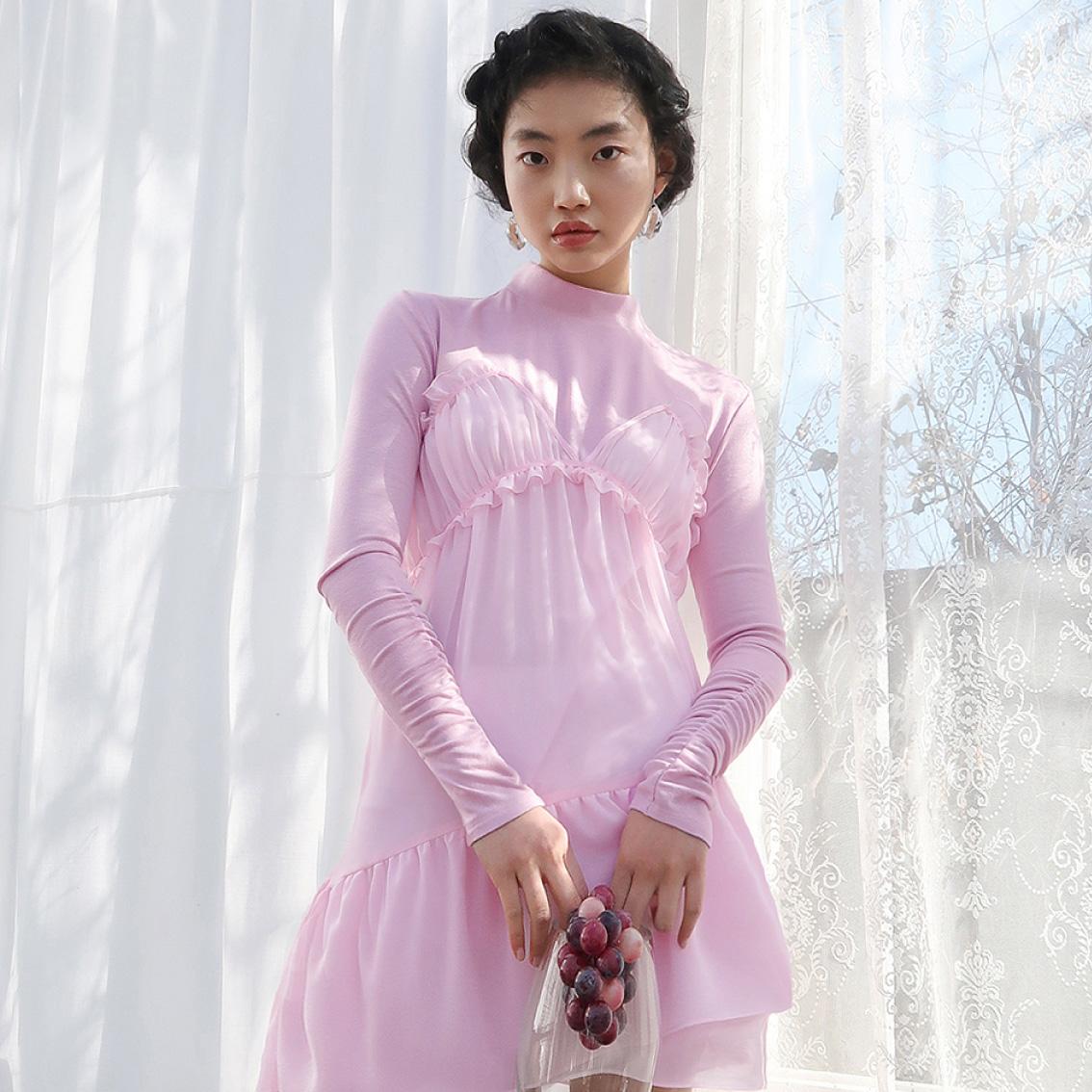 tinker bell mini dress_pink