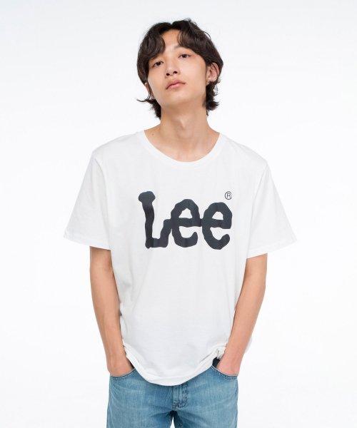 [LEE] 빅 로고 반팔티 BIG LOGO HALF TEE-WHITE/BLACK