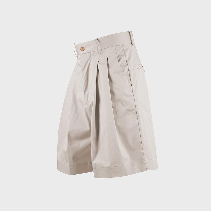 wide-leg short pants beige