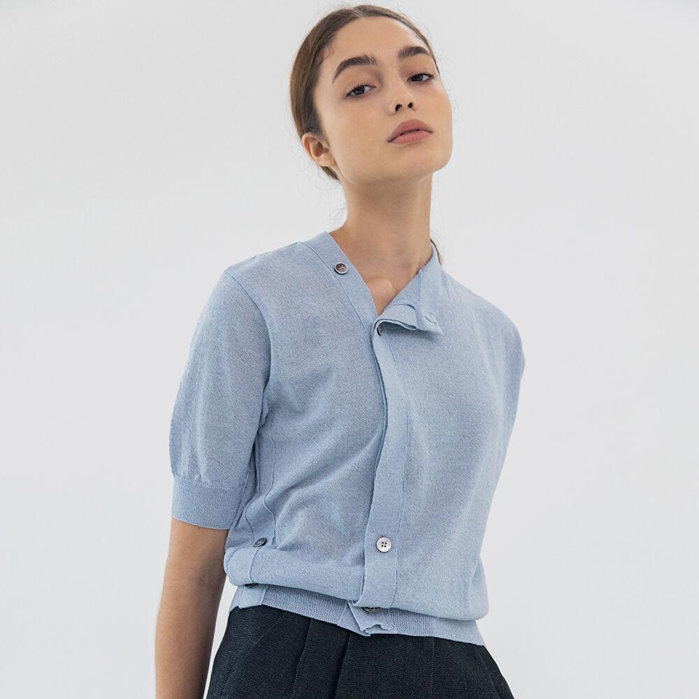 Unbal linen cardigan (sky blue)