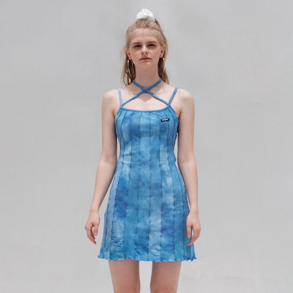 HIDE Lettuce Edge Dress (Sky Blue)
