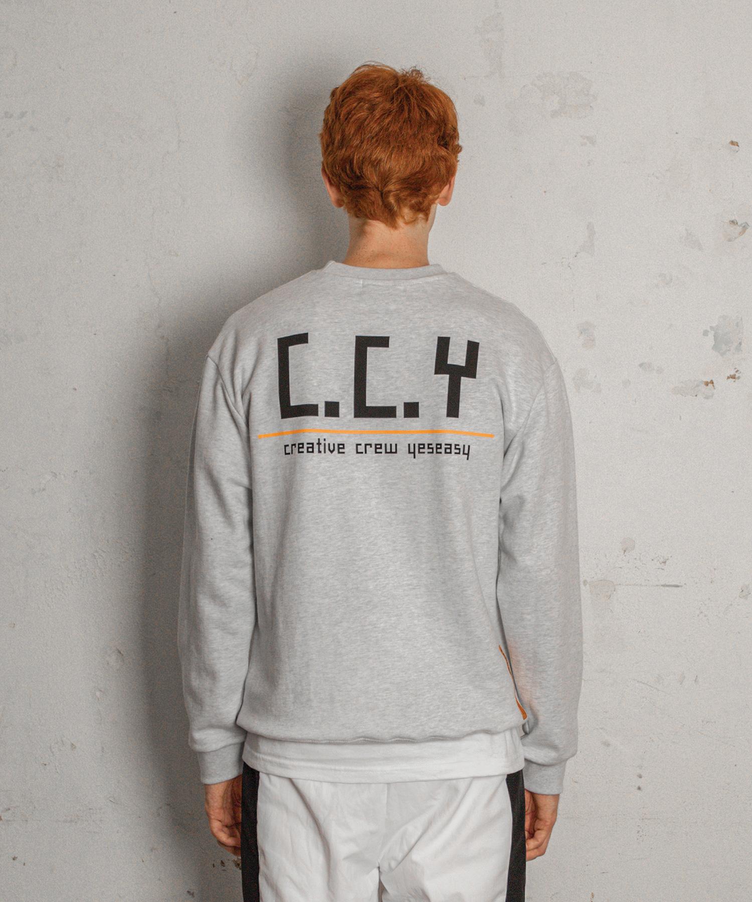 [예스이지] CCY 스웨트 셔츠 라이트그레이