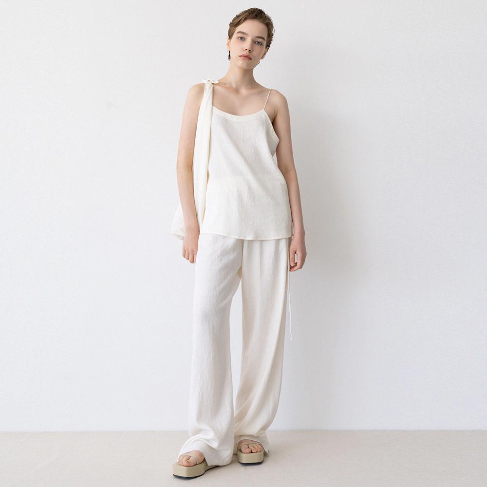 linen string banding pants (ivory)