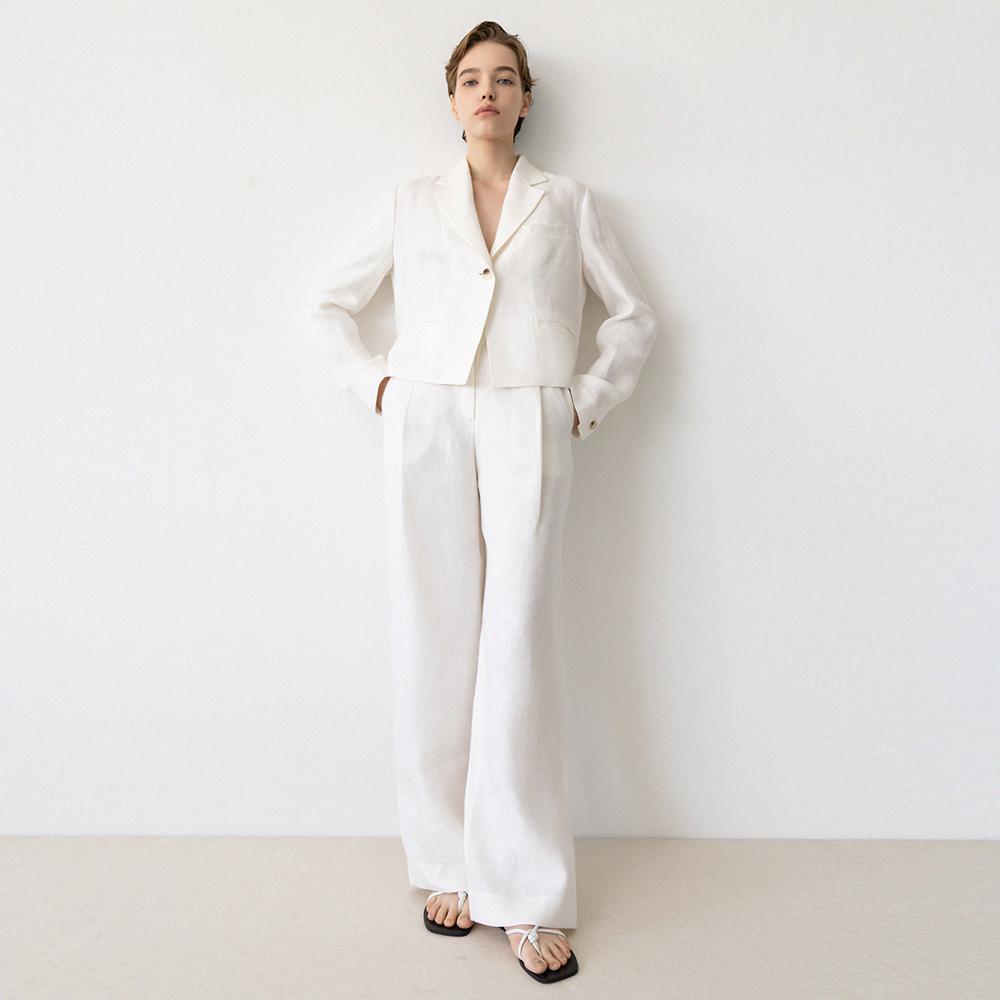 linen wide pants (ivory)