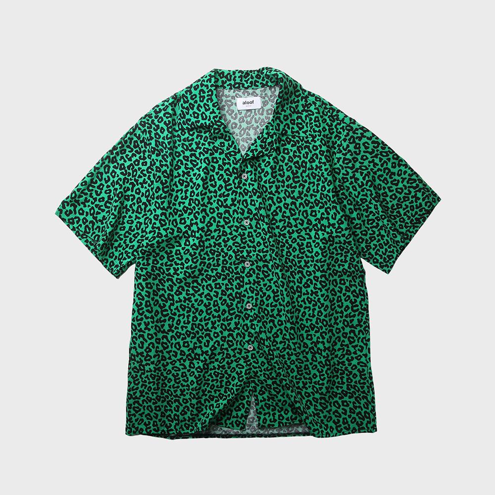 Leopard Patten Shirt / Green