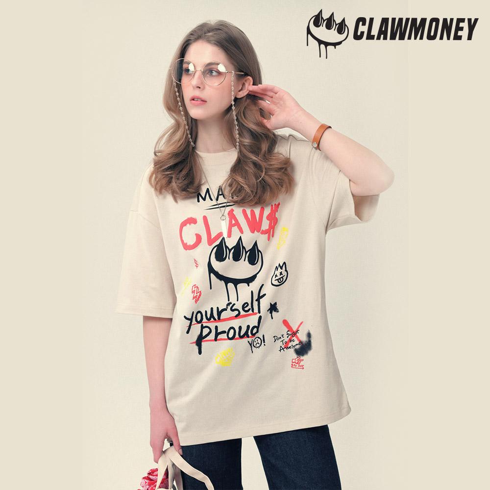 클라우머니 그라피티 클라우 티셔츠 CR