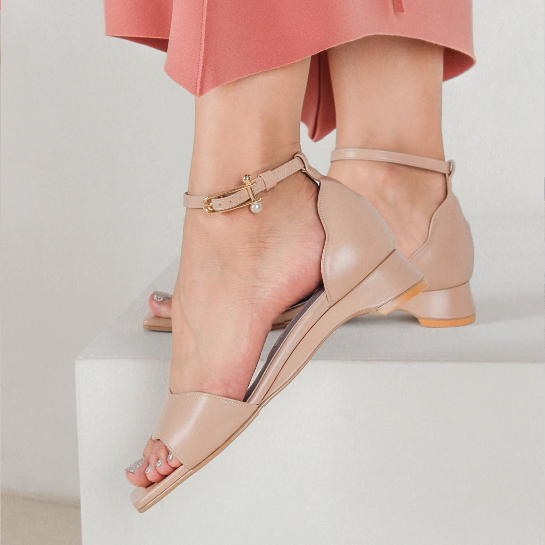 [피에스메리제인](1cm,3cm,5cm) sea sandal -  pink