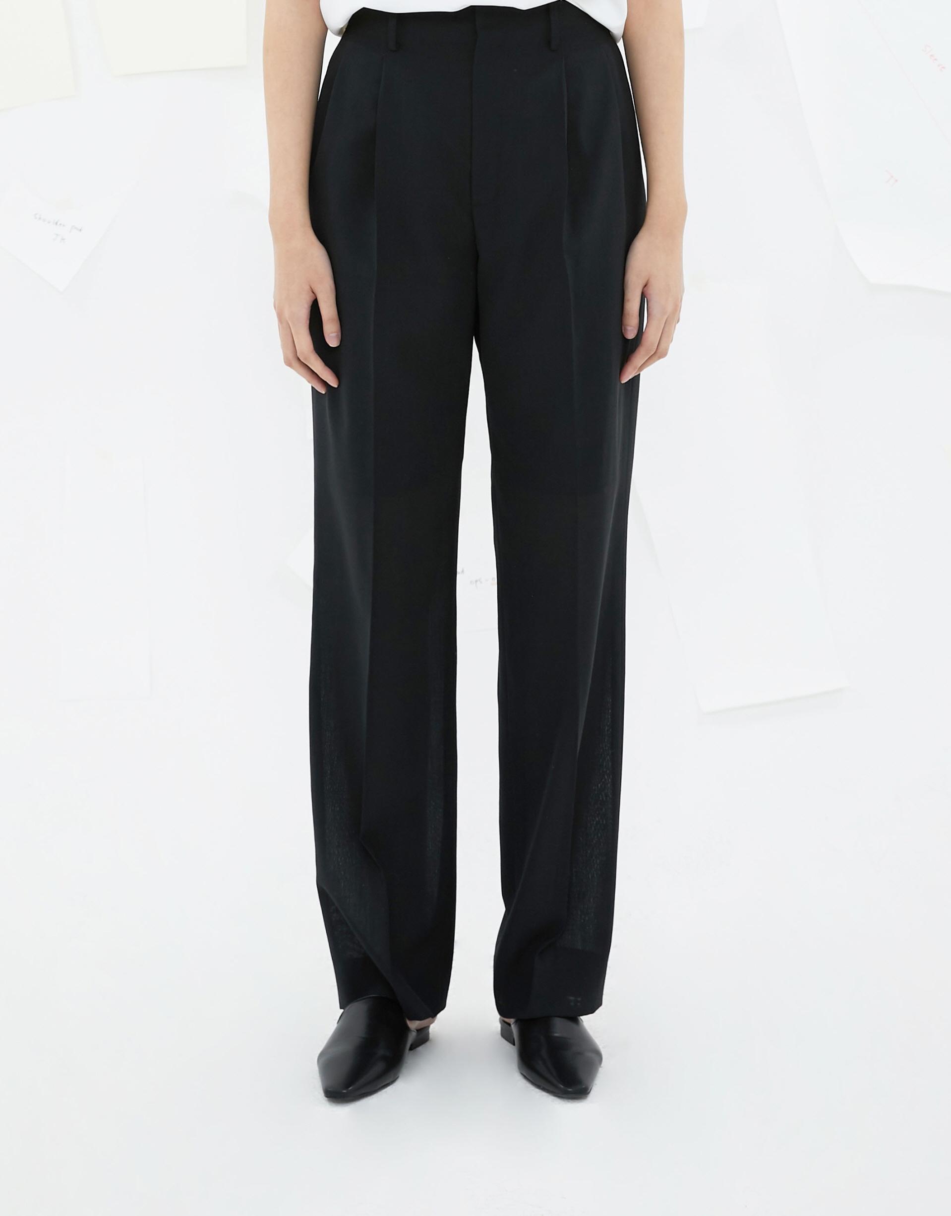 [숄더패드] (20SS) Summer Wool Highwaist Pants