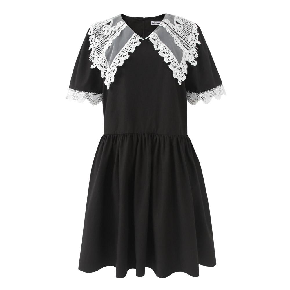 [민타레트로]Anika Lace Black Dress