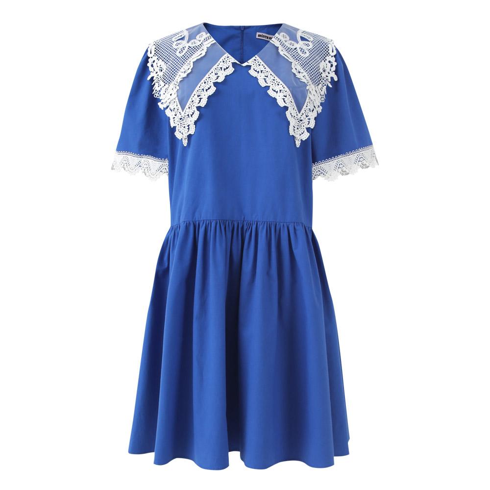 [민타레트로]Anika Lace Blue Dress