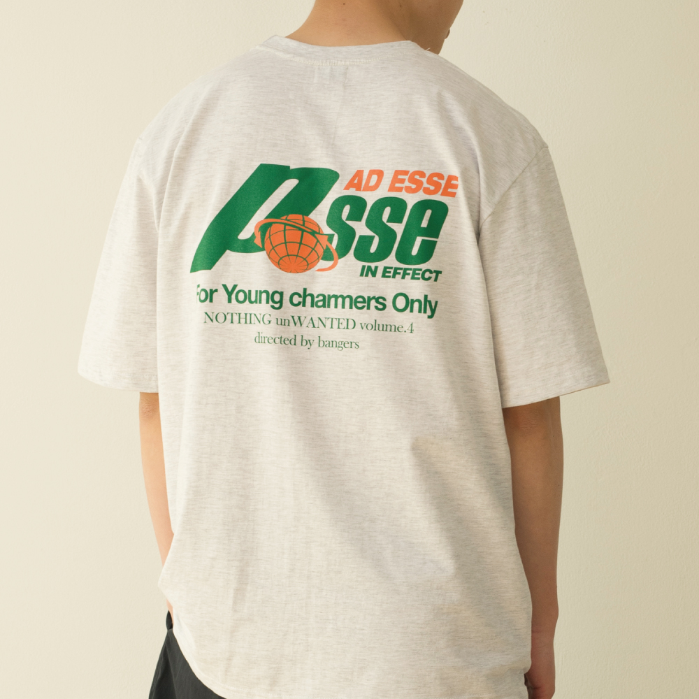 POSSE AD ESSE T-SHIRT_LIGHT GRAY