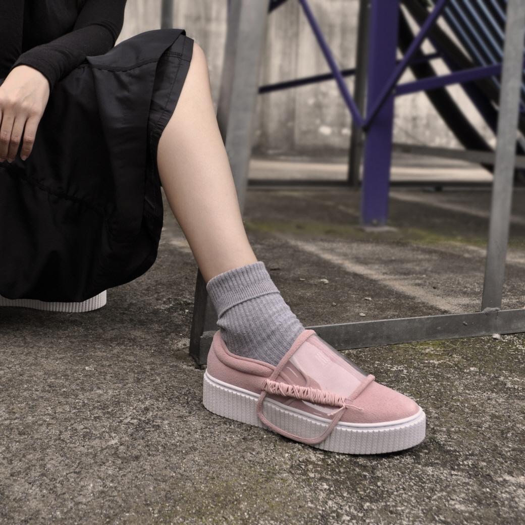 [키데이] 스트랩 슬립온 Cowist slipon pink