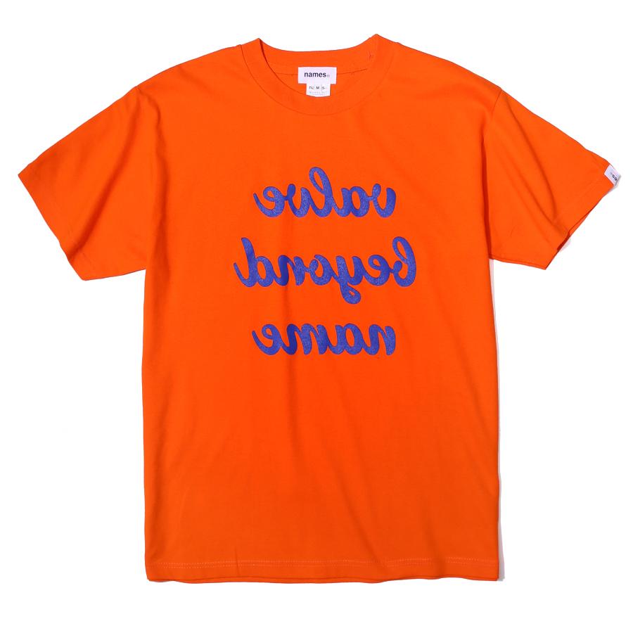 거울 슬로건 티셔츠 오렌지