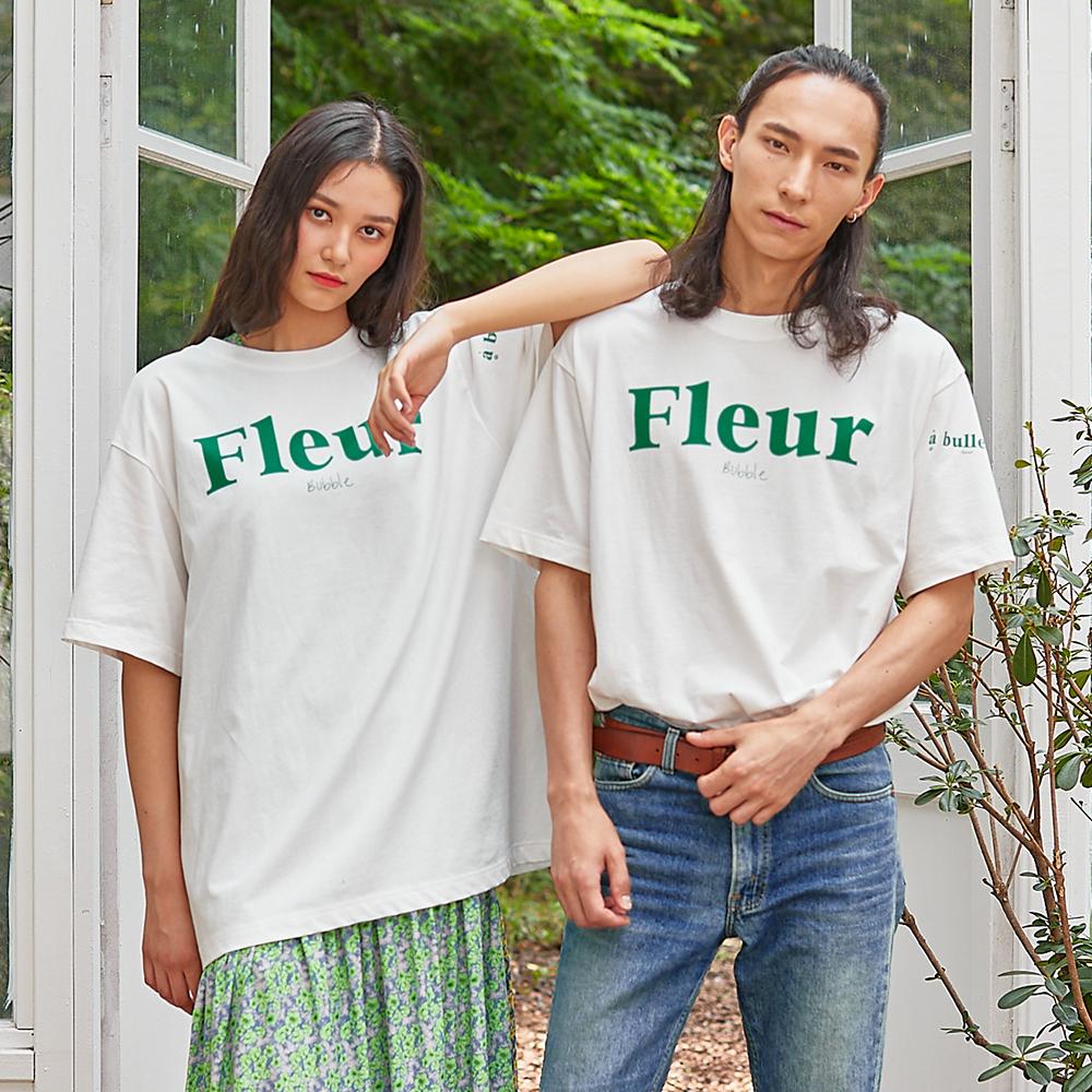 버블 플라워 티셔츠 화이트