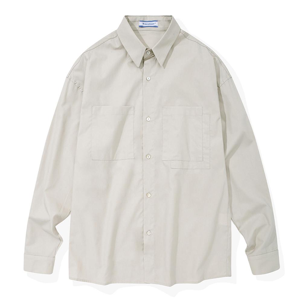 ODPL 소프트필 코튼 오버핏 셔츠 L베이지