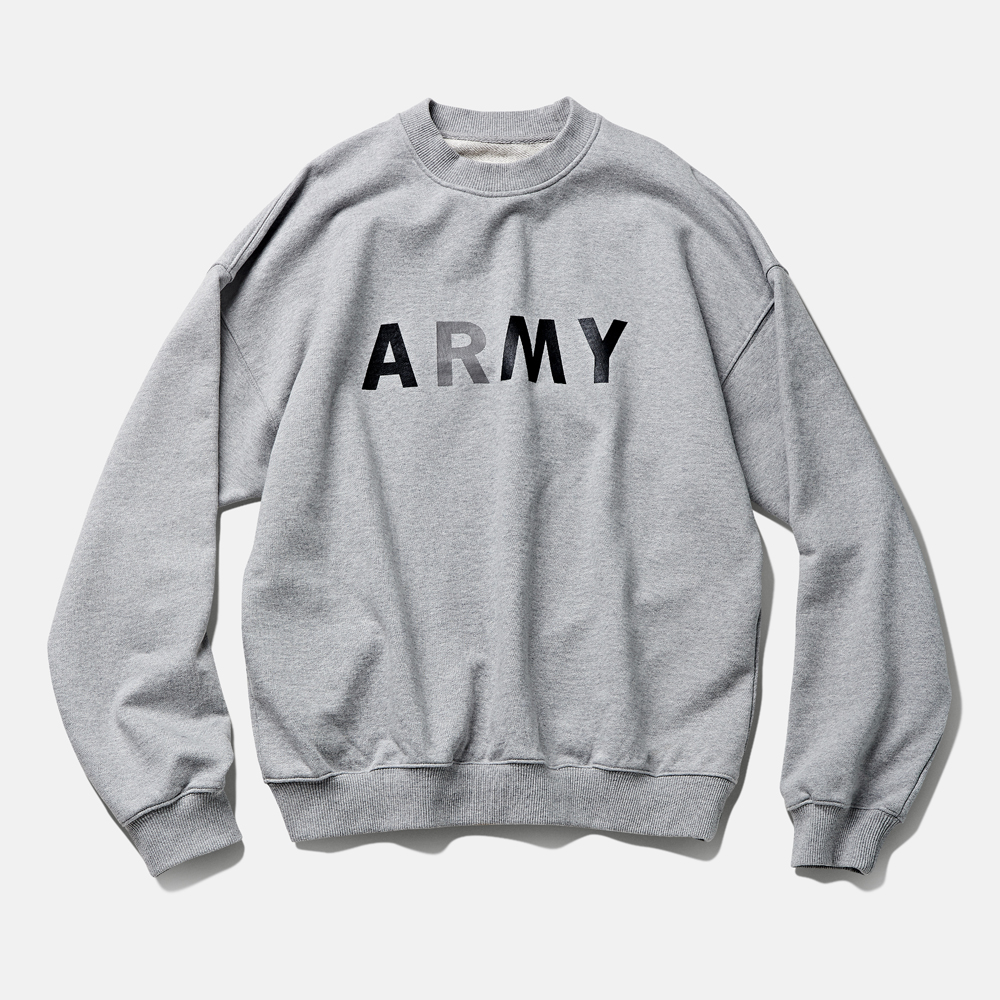 DTR1941 90s ARMY Sweat Shirts Melange Grey