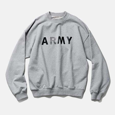 DTR1941 90s ARMY Sweat Shirts Melange Grey