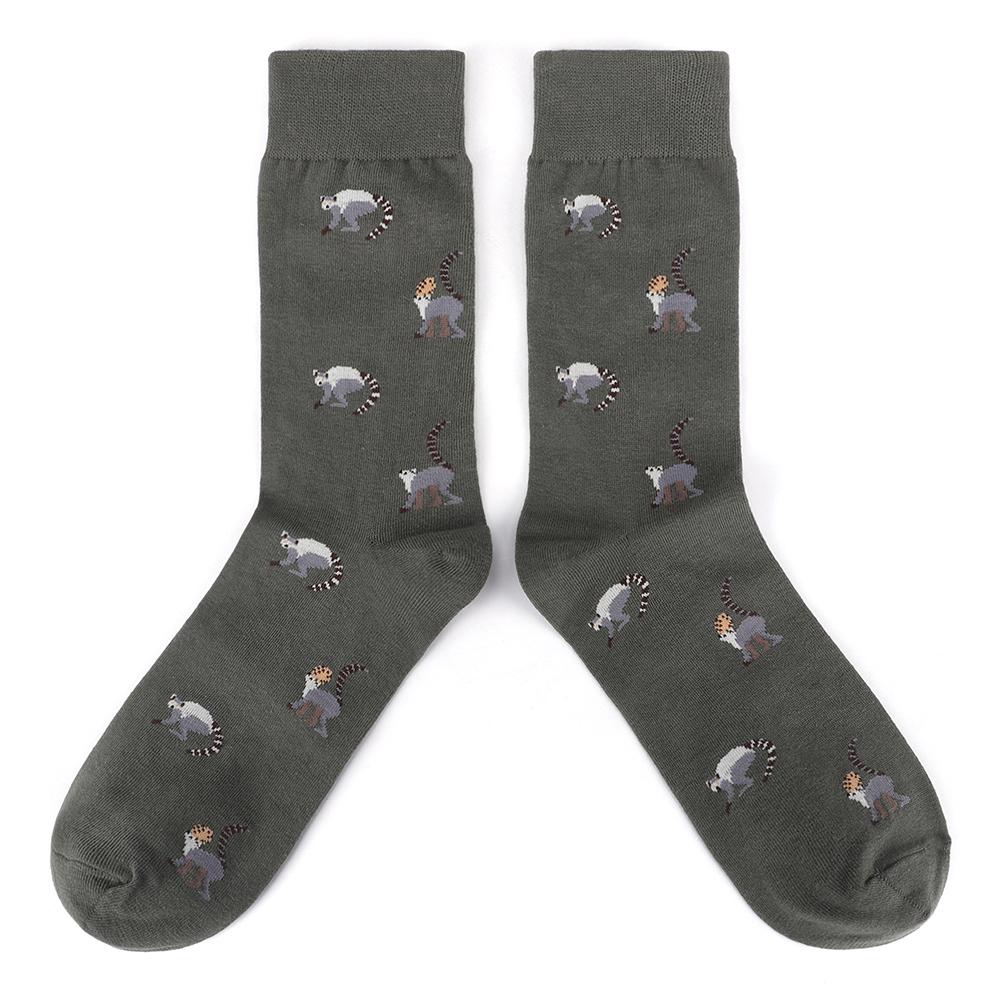 Parade of tailed monkeys socks