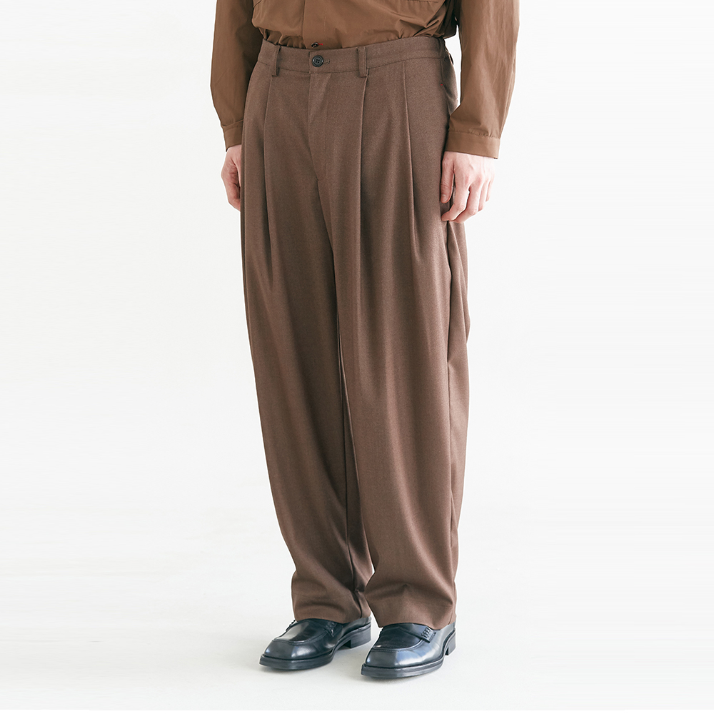 [S-M 10월 9일 재입고] Regular Silhouette Pants_Brown