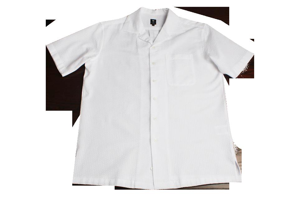 Hawaiian Collar Seersucker Shirts (WH)