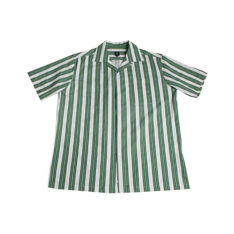 Linen Stripe Bowling Shirts (GR)