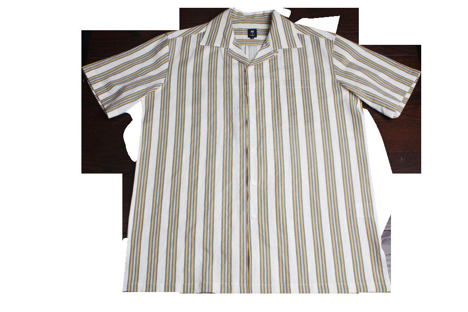 Linen Stripe Bowling Shirts (YE)