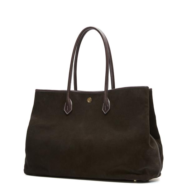 Dark brown Suede Tote Bag