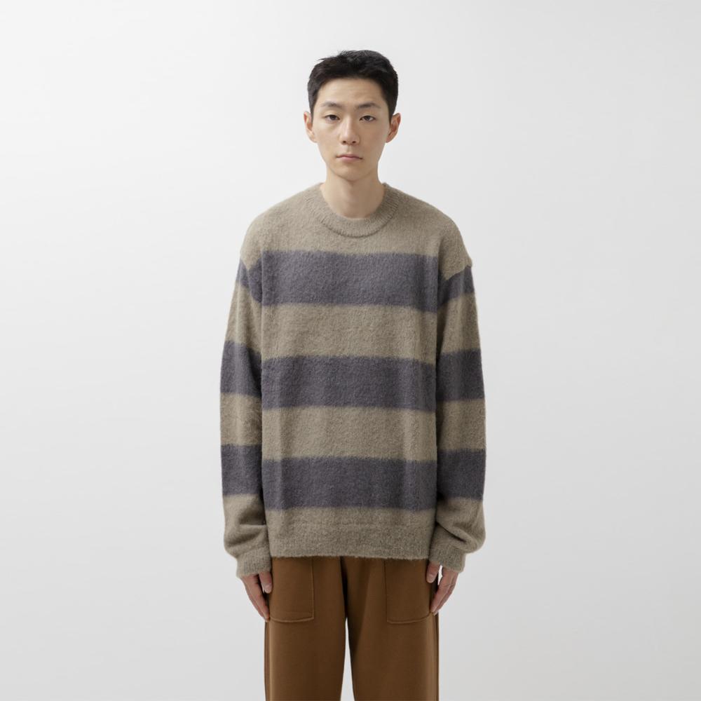 Border Sweater (Olive)