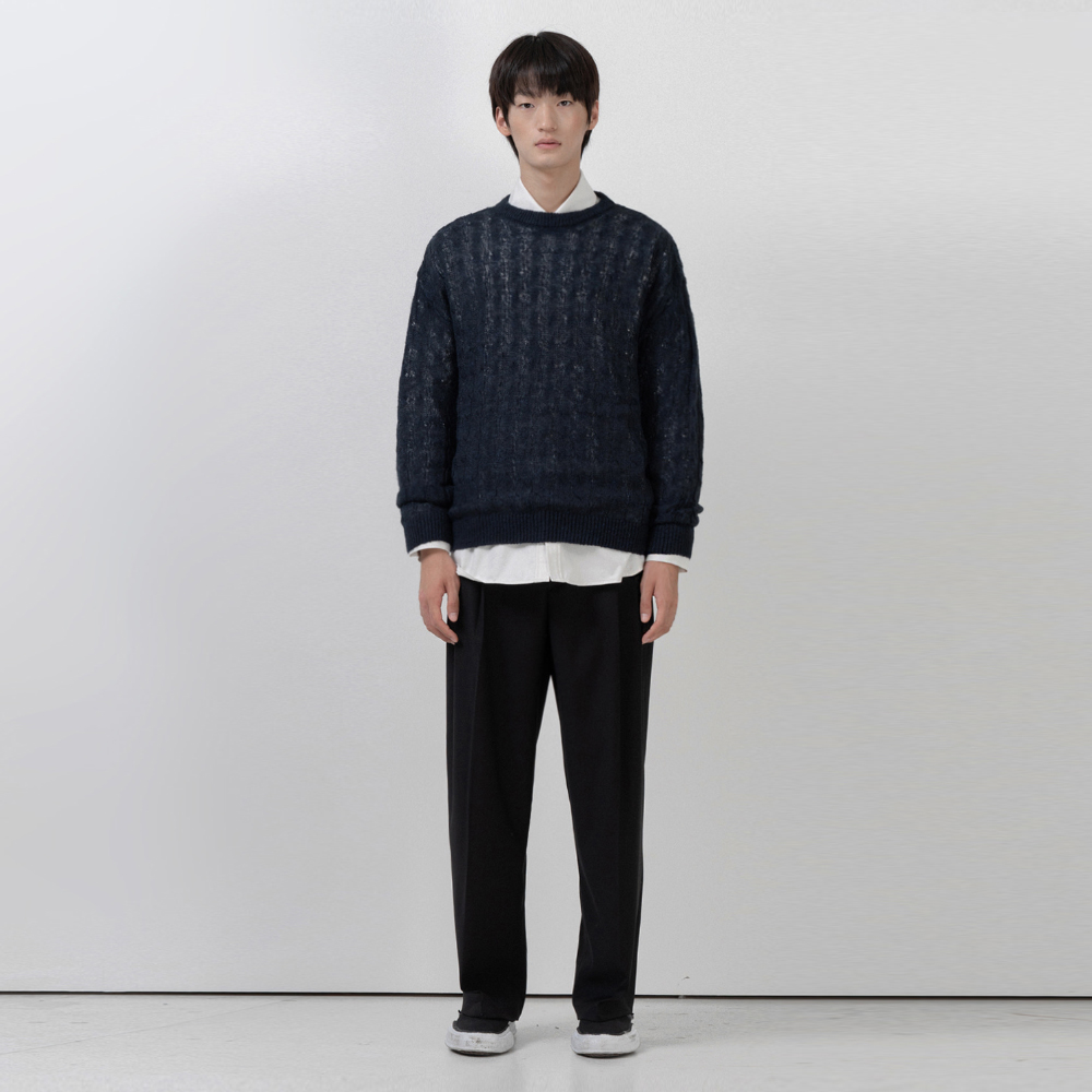 BF loosefit twisted knit navy