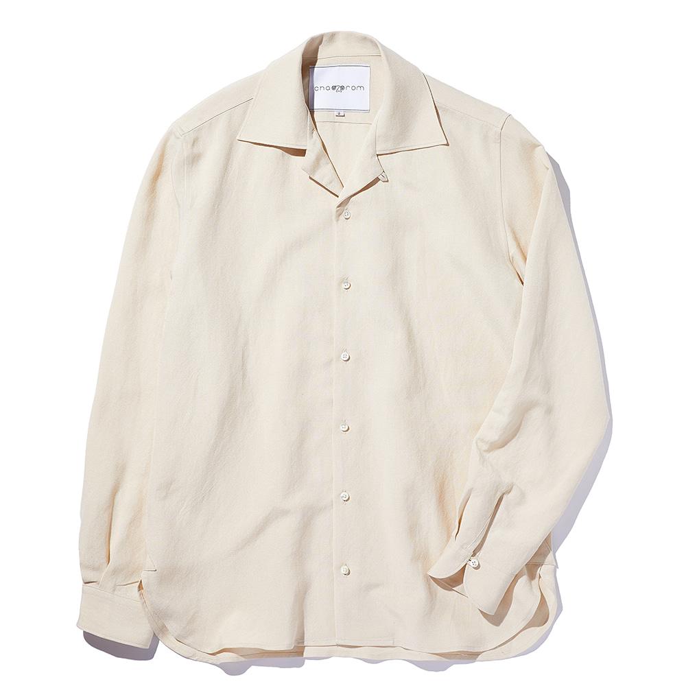 Chad Prom Linen & Rayon Shirt Beige